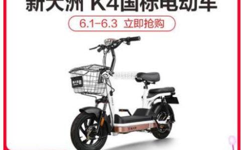 【猫宁】新大洲 TDT14Z K4 新国标电动车 低至838新大