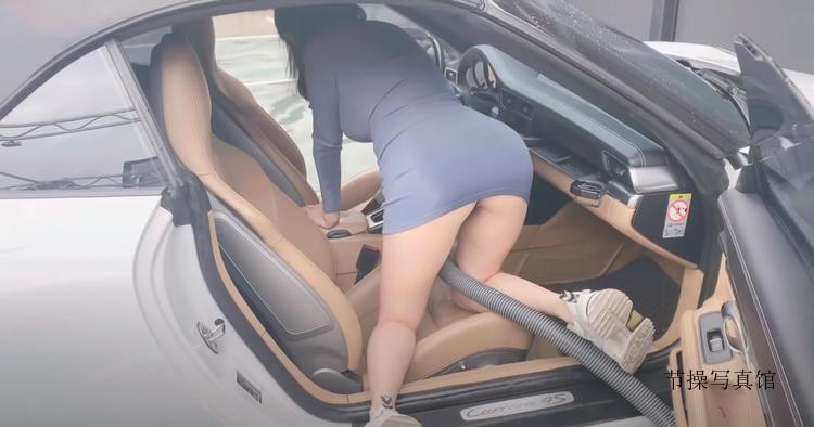 洗车爆乳Youtuber Jena小裤裤若隐若现真是逼死人了