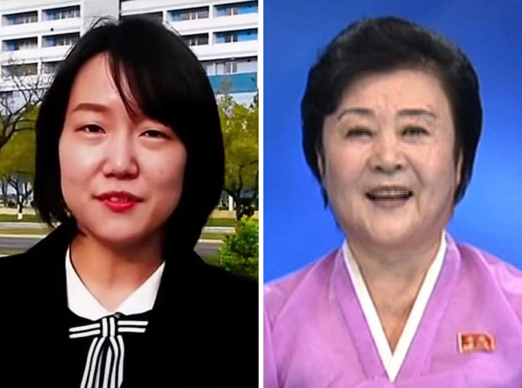 朝鲜宣传的新面孔阿恩和著名女主播李春姬。