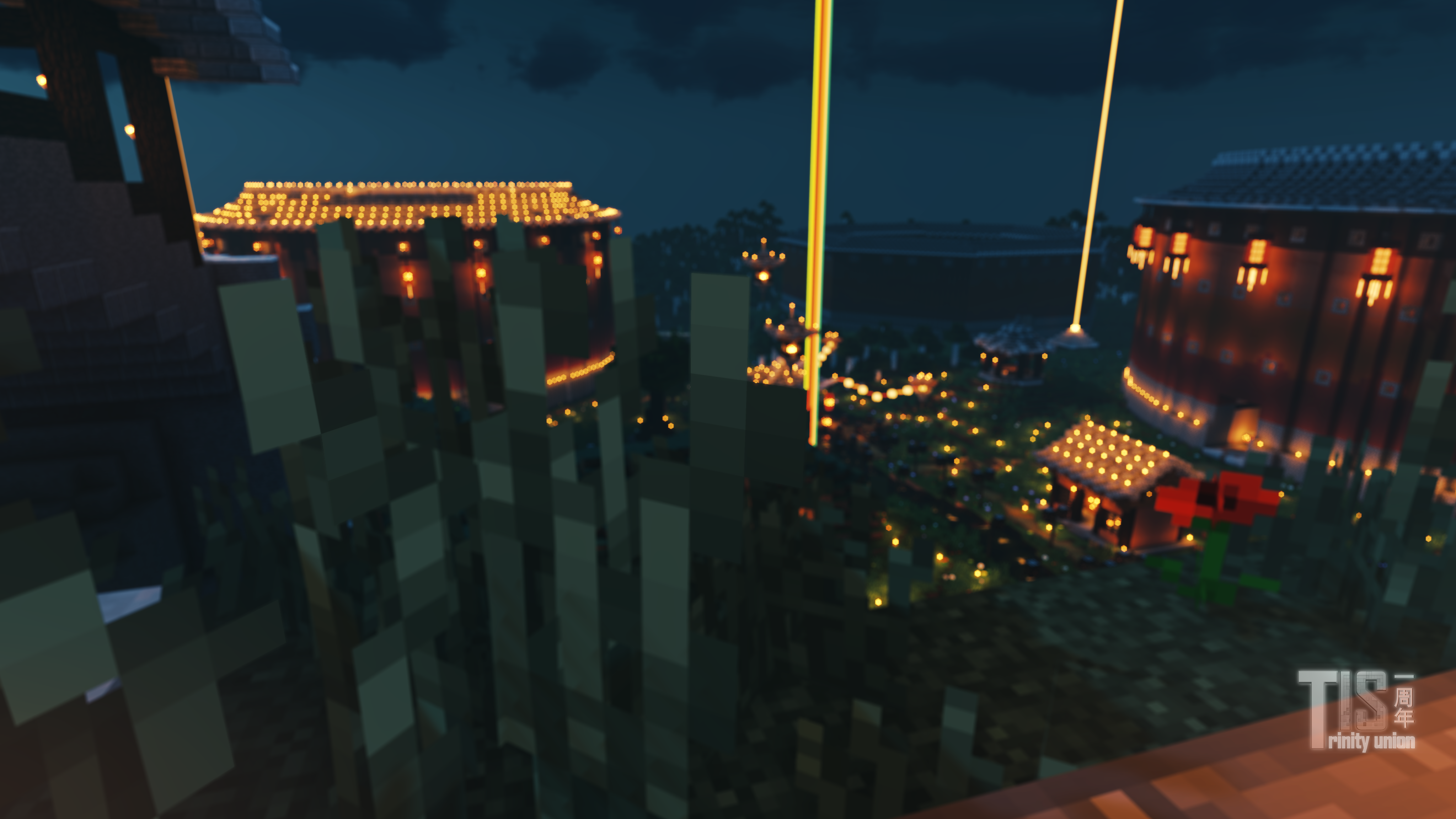 土楼的夜景