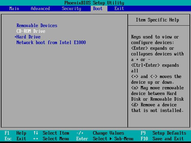 将光驱调到硬盘之前,并F10保存退出