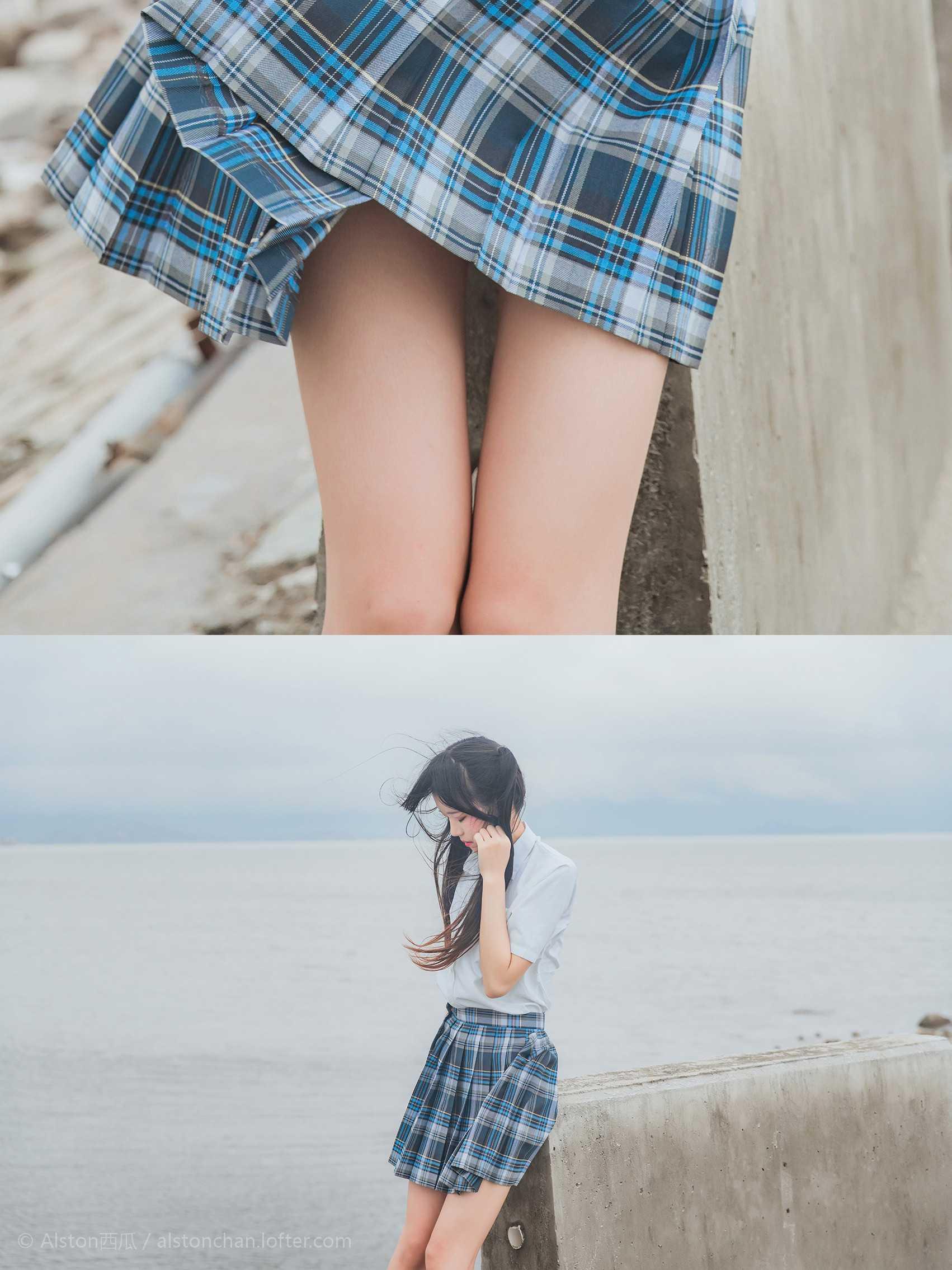 免费⭐微博红人⭐桜桃喵@写真cos-海边(桜桃喵 )插图2