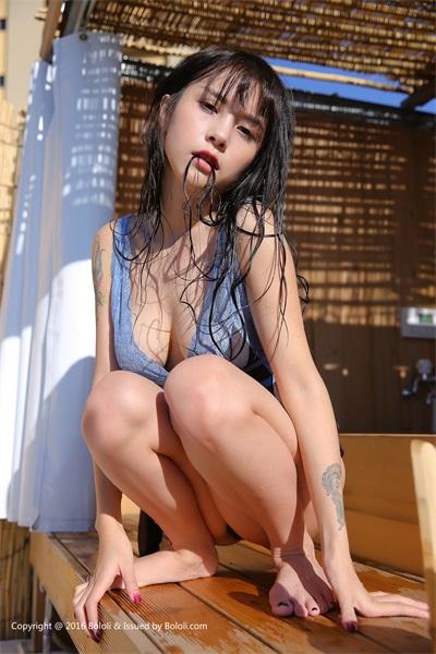 ⭐BOLOLI波萝社⭐夏美酱-2017.01.28Vol.018夏美水枪雏菊[40P/499MB]插图7