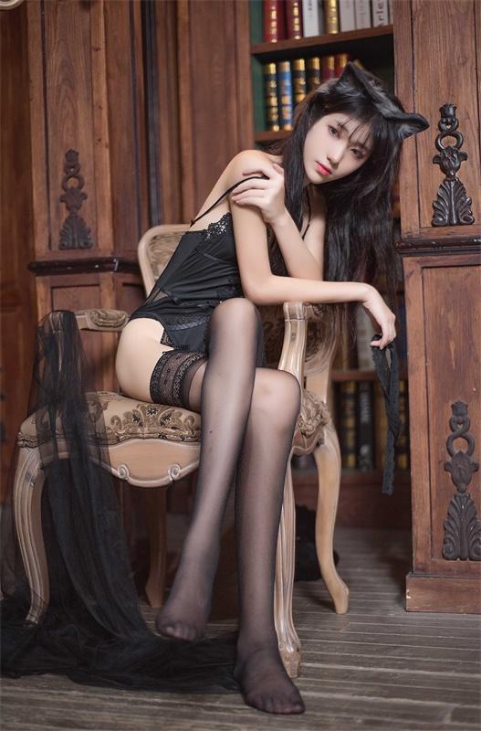 ⭐微博红人⭐南桃Momoko-清纯美女@黑内衣福利向插图