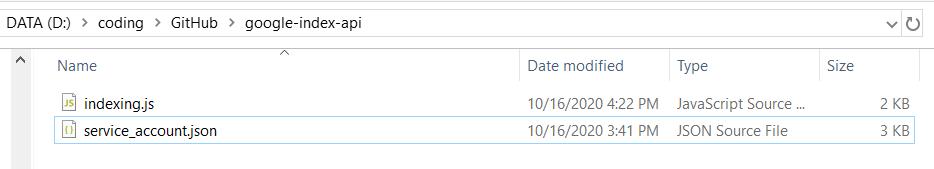 Google Indexing API-nodejs代码-目录设置-极客中心