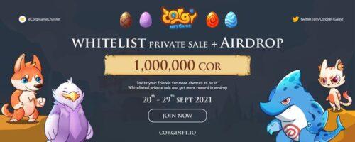 Corgi NFT Game:通过任务和邀请获得门票,瓜分空投总计100万枚COR!