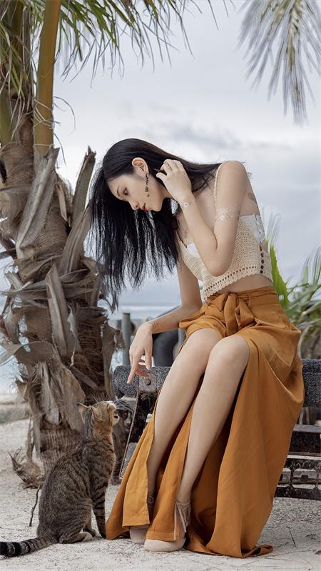 ⭐微博红人⭐南桃Momoko-清纯美女@黄裤插图1