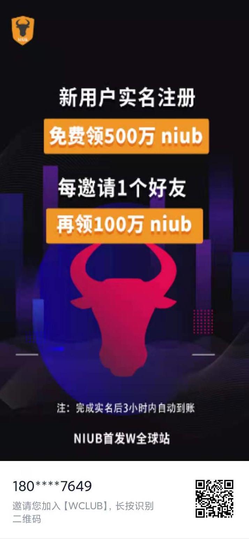 W.CLUB交易所,注册实名空投500万枚niub,直推奖励100万枚,5月19号开交易