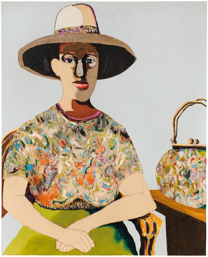 安德鲁斯于1978年创作的艺术家霍华德娜·平德尔的肖像画。