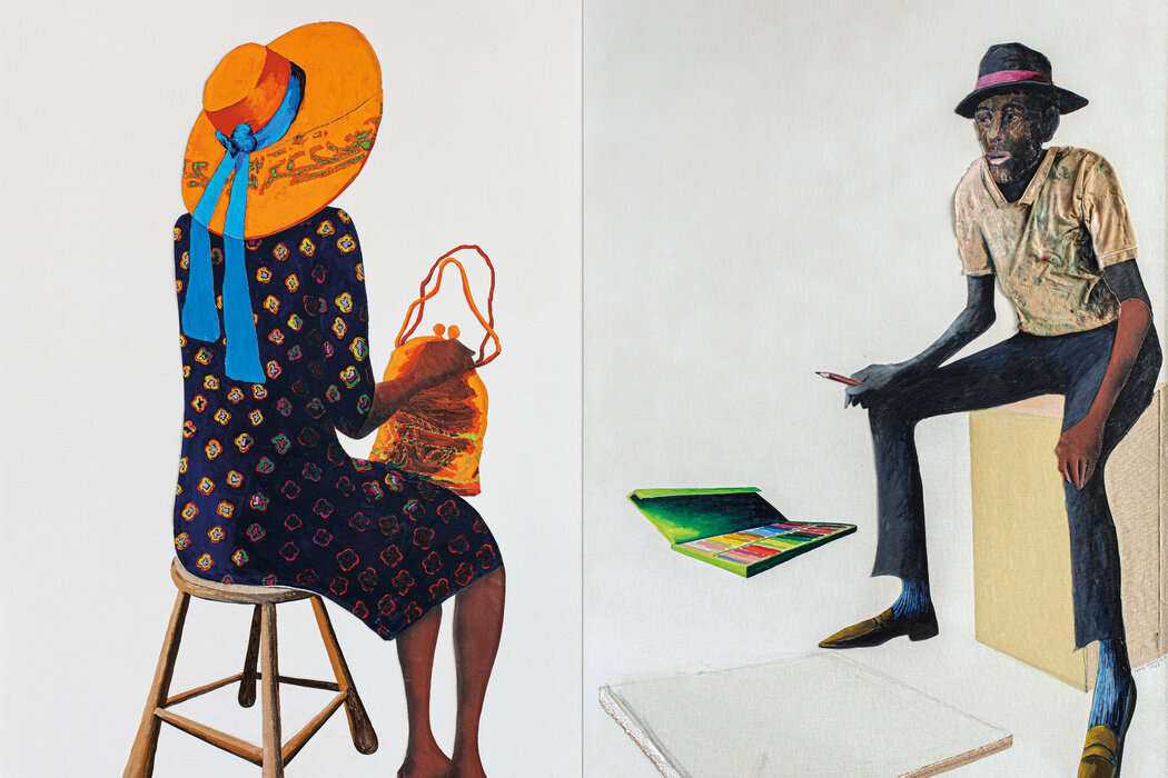 本尼·安德鲁斯的《肖像画家的肖像》(1987年),画中他对既当艺术家,又当描绘对象的乐趣显而易见。