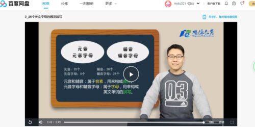 分享英语学音标视频
