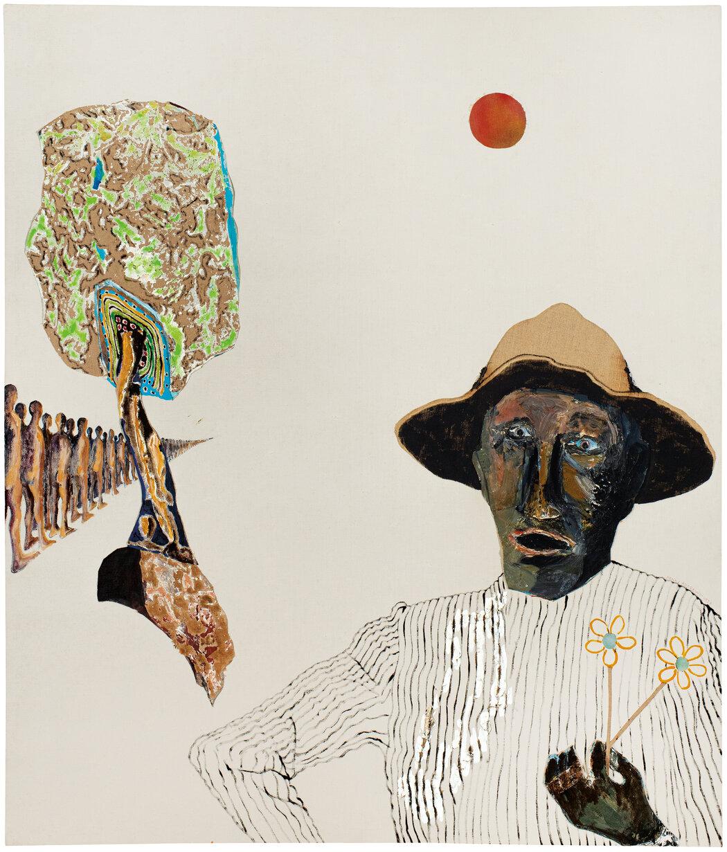 """《路易》(1977年),""""一个鲜明的悲伤形象,象征着美国数代有色人种受压迫的文化记忆。"""""""