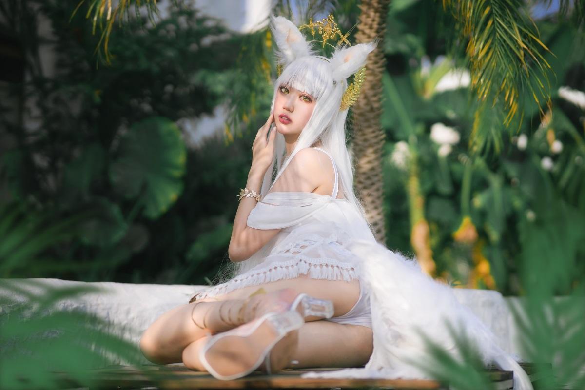 ⭐cos套图⭐周叽是可爱兔兔-NO.013 白金泳装[23P-339MB]插图2