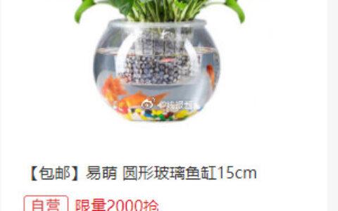 限量2000 、9.9易萌 桌面鱼缸 小型 创意 金鱼缸
