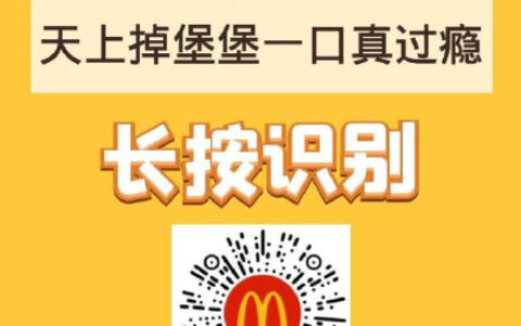 【麦当劳】领这个免费汉堡,随单送的,输入口令【天上