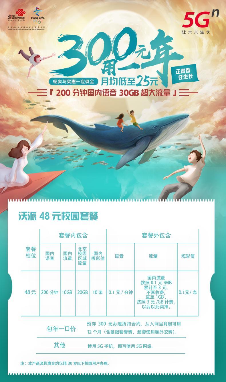 图片[4]-北京联通校园卡每年300元,每月200分钟语音+30g流量-李峰博客