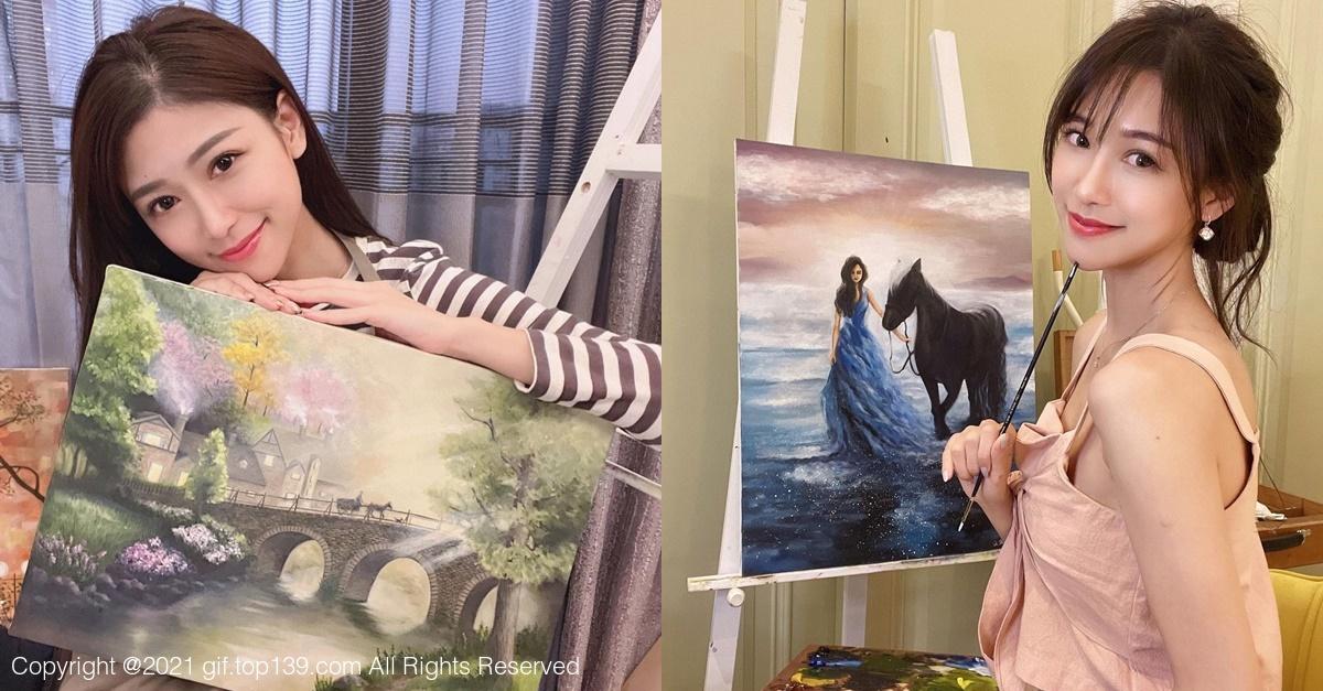 甜美美女「杜衫杉」兴趣是画油画,职业级作画宛如仙女!