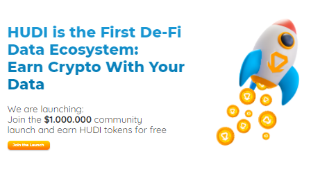 HUDI空投,注册官网账号后完成任务参与瓜分百万HUDI