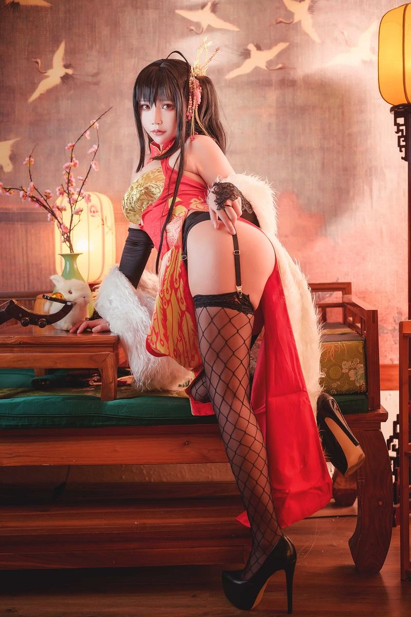 ⭐cos套图⭐写真,cos-抱走莫子aa-大凤旗袍【40P/733MB】插图2