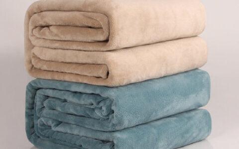 9.9元 午睡空调毛毯小被子2条 毛毯秋冬厚款百搭休闲通