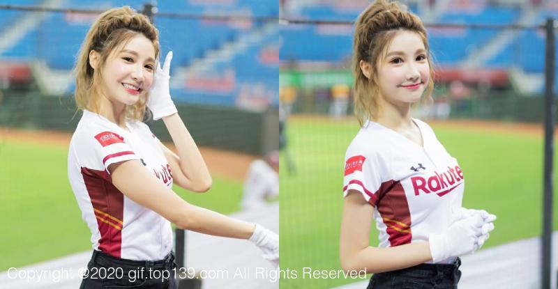 棒球妹「筠熹Yuhi」萌甜笑容融化全场,正能量喷发球迷也恋爱!