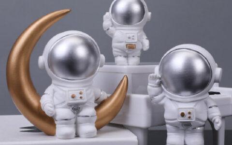 6.6元 可爱书桌太空人创意摆件 创意太空人宇航员小摆