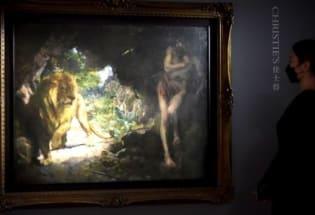 佳士得拍卖:徐悲鸿《奴隶与狮》意外流拍 疫情后艺术品市场急盼复原