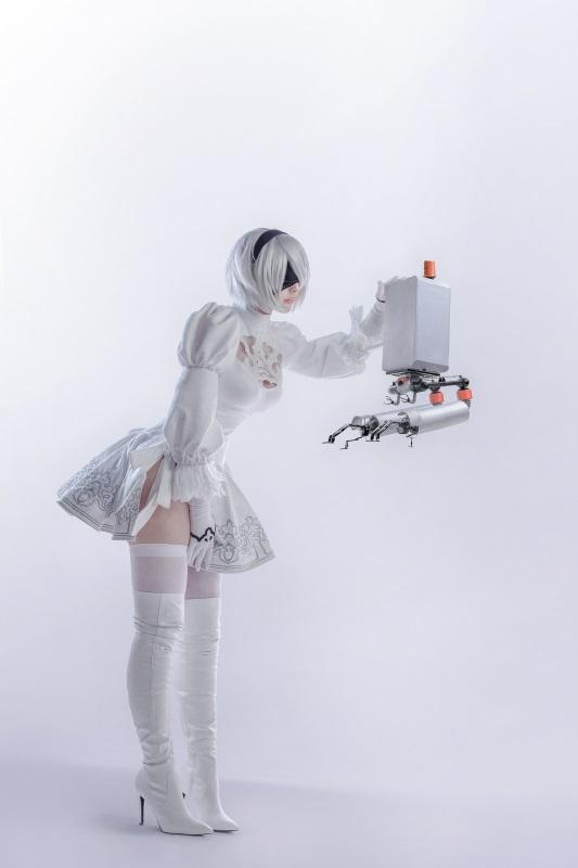 ⭐cos套图⭐Sayathefox – NO.03 2B White Dress [10P-105MB]插图1