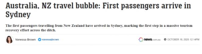 澳新旅行正式启动,首架航班已飞抵!标志旅游业恢复迈出第一步