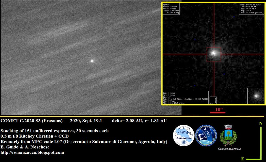 将肉眼可见!这颗快速变亮的彗星,奶它奶它!