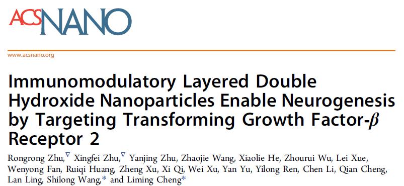 同济大学附属同济医院程黎明教授团队重要研究成果在纳米生物材料知名杂志 ACS Nano 发表