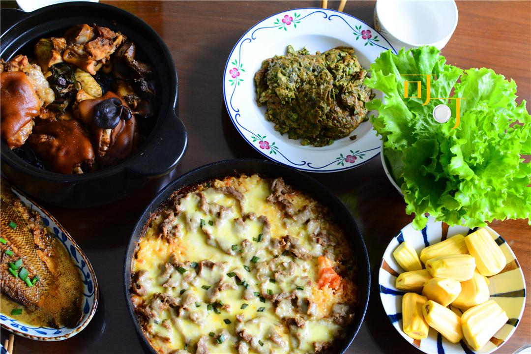 爸妈来家吃饭,整点新鲜菜尝一尝,中式西式都有,你看还好吗?