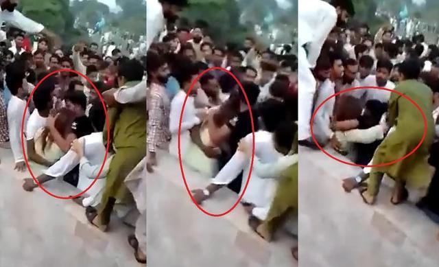 巴基斯坦女子公园遭400名男性骚扰 推挤拉扯还将她抛到空中