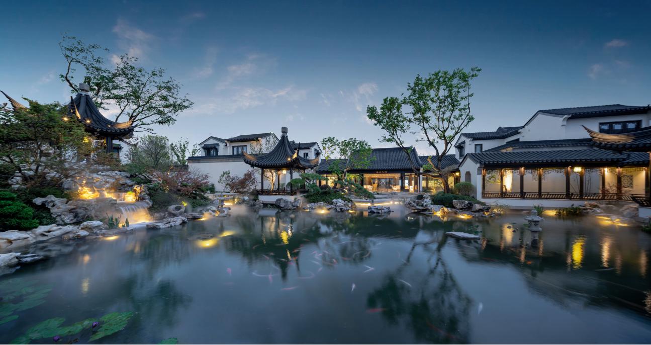 沿袭中华千年文化底蕴,重庆融创桃花源匠筑观念艺术