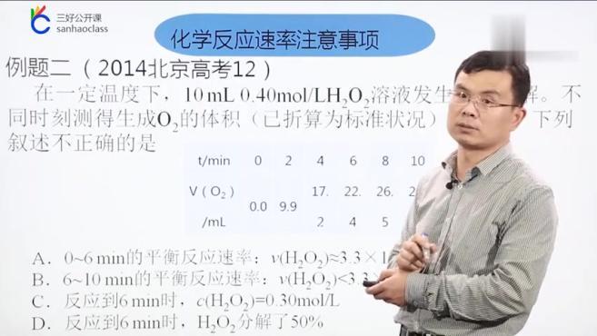 高三化学:化学反应速率公式应用「三好公开课」