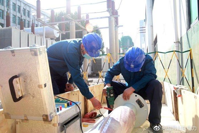 110千伏新城变电站进线穿墙套管进行更换和试验