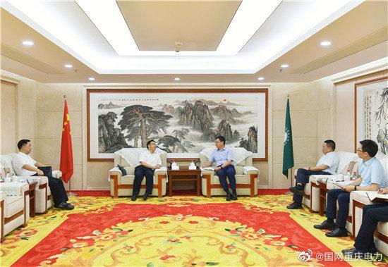 陈连凯与合川区委书记李应兰会谈
