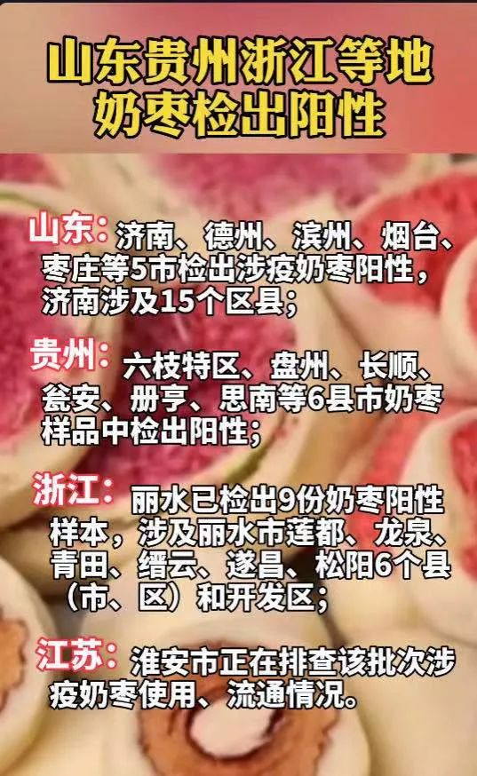枣庄涉疫奶枣通过线上渠道流入天津 奶枣阳性是哪里产的吃了能传染上新冠吗