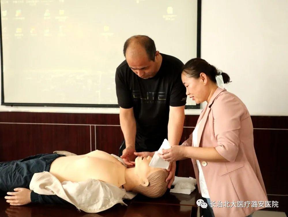 北大医疗潞安医院:救护培训进企业,急救知识入人心