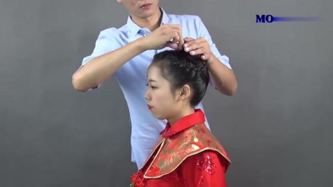 简单的中式复古秀禾新娘发型