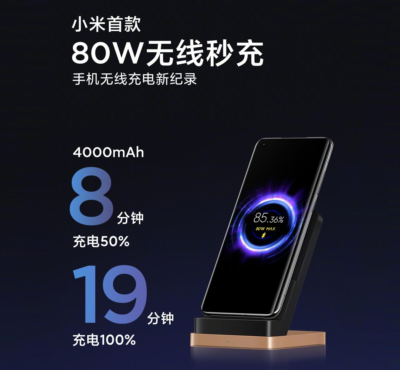 """小米再创""""新纪录"""",80W无线秒充问世,苹果简直弱爆了!"""