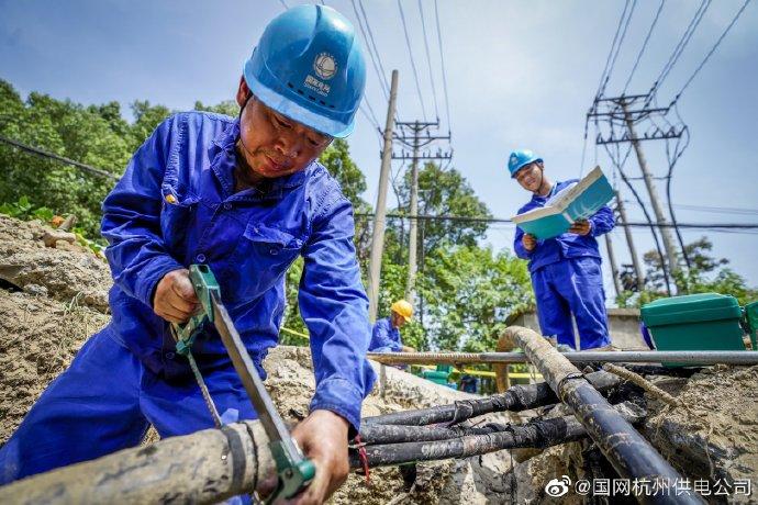 赵家村附近一处电缆中间接头故障抢修