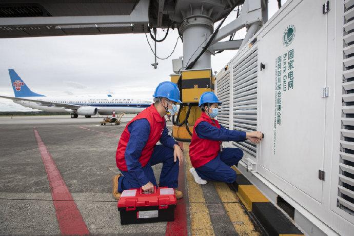 绵阳南郊机场全流程机场岸基供电设施正式启用