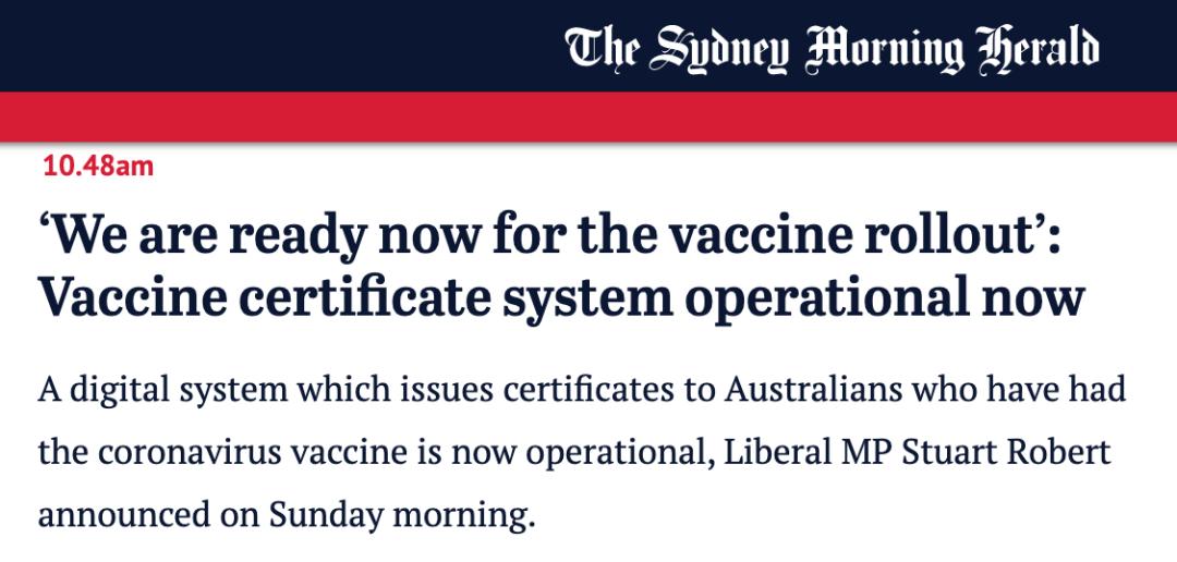在澳华人留意,澳洲疫苗接种准备就绪,技术移民、留学生或免隔离返澳!