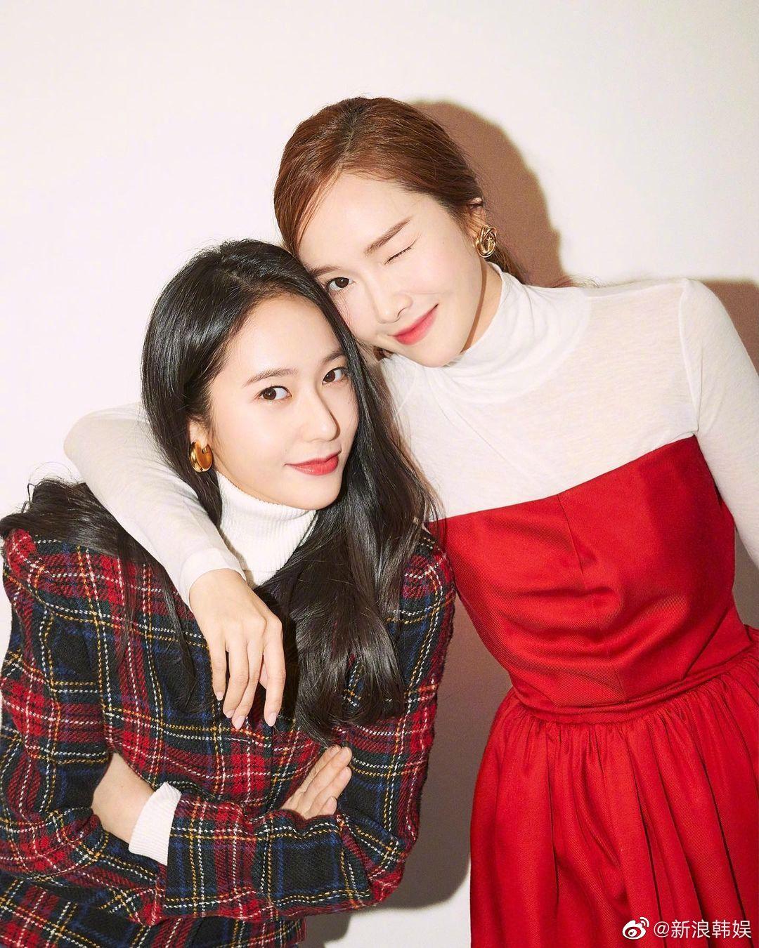 韩国引以为豪的美女姐妹 郑秀晶郑秀妍圣诞合照公开