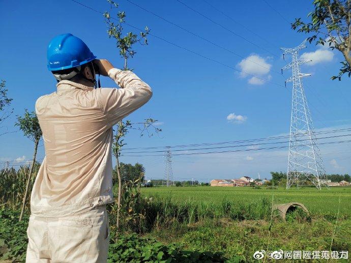 泗阳县八集镇220千伏线路开展五级风险保电特巡