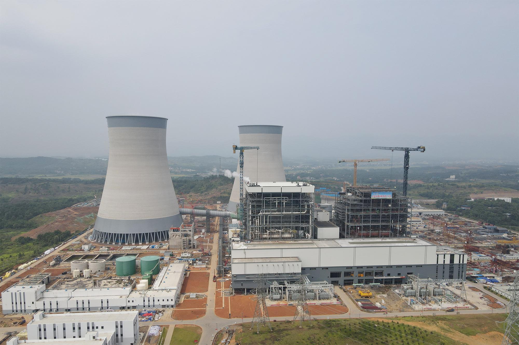 湖南省首台百万千瓦燃煤机组并网发电