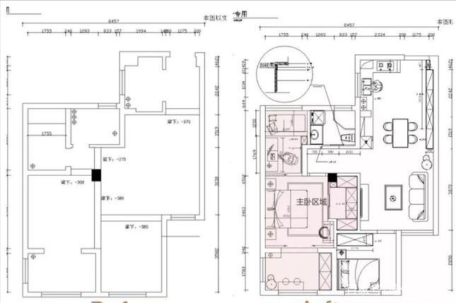 夫妻的90㎡小三居,每平米都用到极致,衣帽间家庭影院全有,佩服
