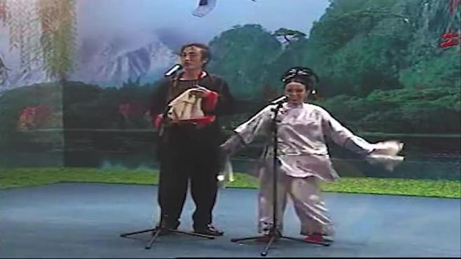 传统二人转小帽张生游寺,赵晓光陈晓霞演唱,高低柜组合的经典再