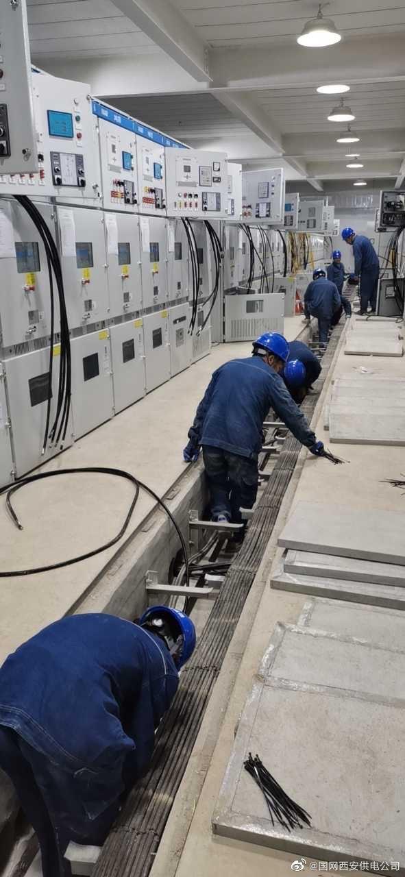 新大陆变二次电缆敷设及接线工作顺利进行